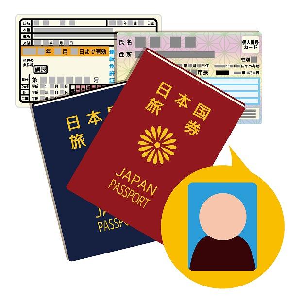 本人確認の身分証明書の提示